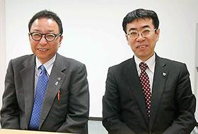 左から有澤、竹内両副会長