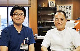清野氏(右)と矢部氏
