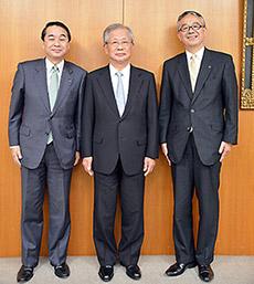 3商工会議所副会頭の3氏(右から手代木氏、服部氏、家次氏)