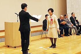知事感謝状の贈呈式