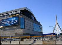 会場となったTD Banknorth Garden。プロアイスホッケーチームBoston Bruinsの本拠地でもありますが、2004年にあった大統領選挙で民主党大会が開催された程の多目的巨大ホールです。