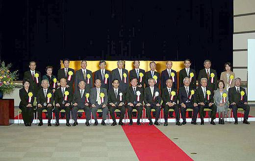 2009年度「薬事功労者厚生労働大臣表彰式」での記念写真
