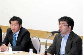 後藤氏(右)と朝倉氏