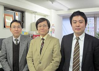 左から出田部長、安藤社長、シニアシステムエンジニアの西川氏