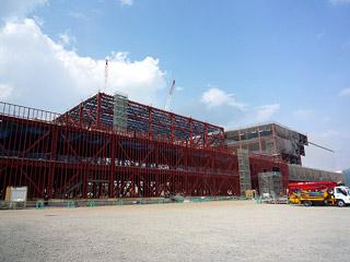 建設中の新山形工場