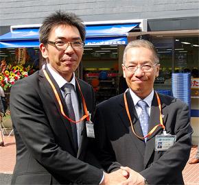 期待を語る「れこっず」渡邊(左)、CFS石田の両社長