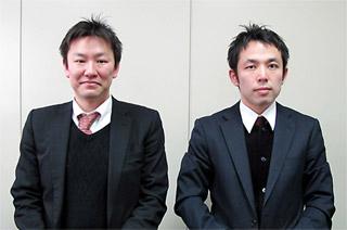 豊浦氏(代表取締役社長)と立野氏(事業開発部部長代理)