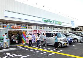 一体型店舗ファミマとエフケイの一体型店舗