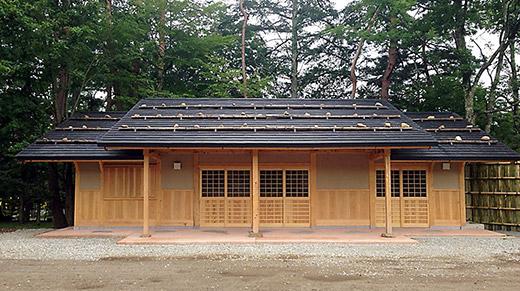 和風の山荘をイメージした展示館「清風萬里館」