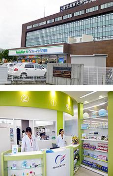 「ファミリーマート+ファーマライズ薬局美浜店」は、東京歯科大学千葉病院の正門横にありながら、処方箋の面応需も増えている