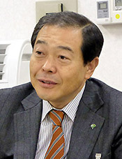 ウエルネスフェスタ実行委員長の若林晃博氏(ピップ常務取締役卸事業本部長)