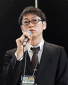 研究成果を報告する山本氏
