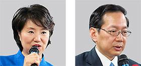 とかしき氏(左)と竹内氏