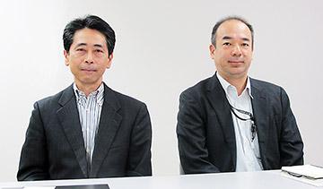 左から渡部一人氏、渡辺秀徳氏