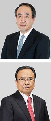 上からホールディングス社長の久保 氏、アルフレッサ社長の増永氏