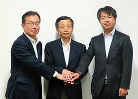 左からINCJ芦田氏、キュラディム内ケ崎氏、Meiji佐々木氏