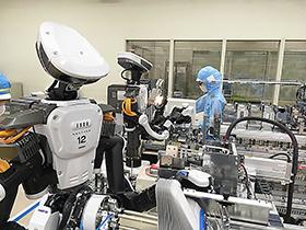 人とロボットが協働作業