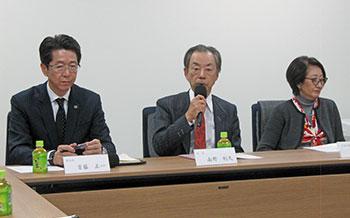 左から首藤副会長、南野会長、二塚常務理事