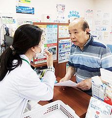 患者に装着してもらい、服薬指導時に活用している