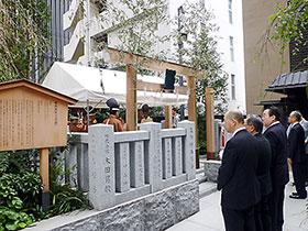 東京日本橋の薬祖神社での例大祭式典