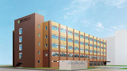福岡薬学部新校舎完成予想図