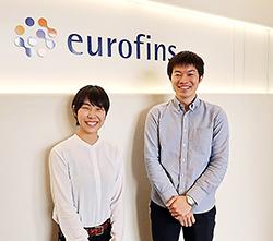 E&L試験を担当する肥田木氏、唐崎幹子氏(左)