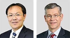 右からカイル・タトル氏と白沢博満氏