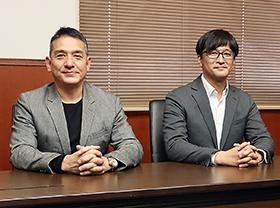 (左から)吉野社長、緒方氏