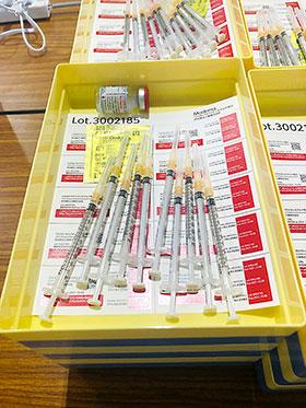 10回分充填可能なモデルナ製ワクチン